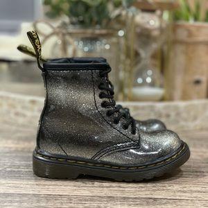 Dr Martens Ombré Glitter Toddler Combat Boots